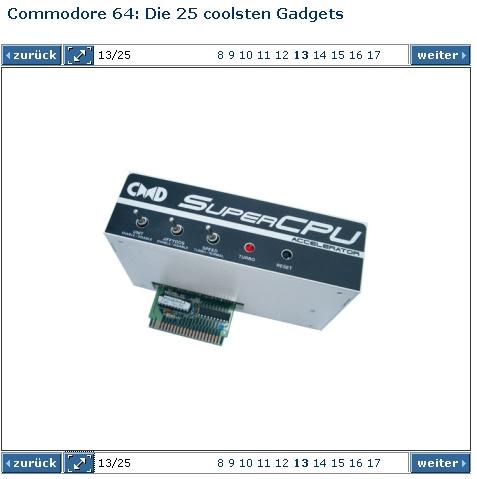 Chip Online zeigt das Bild meiner SuperCPU 128