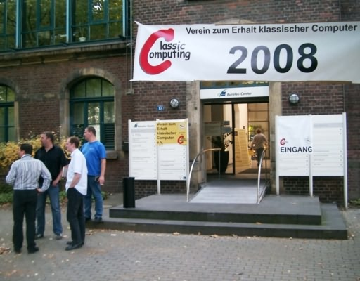 Eurotec-Center in Moers - Eingang zur Classic Computing 2008