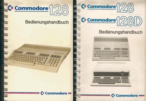 Bedienungshandbuch zum C128 (zwei Versionen)
