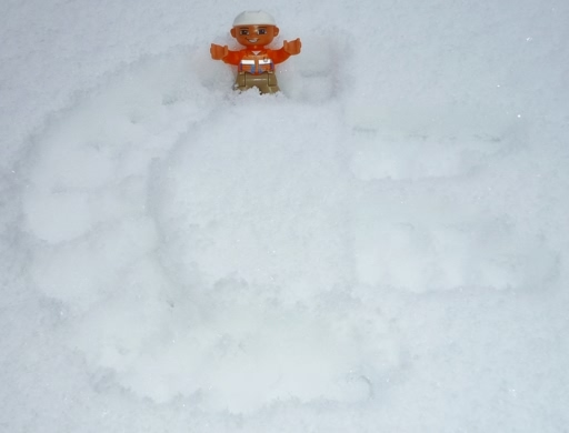 Commodore Logo im Schnee