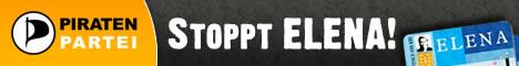 Stoppt-ELENA-Banner der Piratenpartei