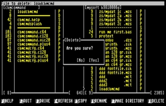 Dateimanager CBM-Command (C128-Version)