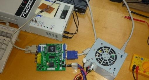 Test der Kette RGBI - RGBA - VGA