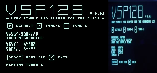 Very Simple SID Player for the Commodore 128