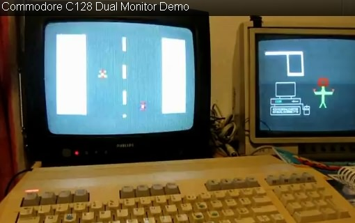 Commodore C128 Dual Monitor Demo Video (Ausschnitt YouTube Video)