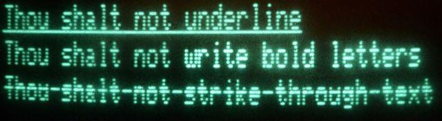Text-Decorations auf einem CBM-Rechner [Bildquelle: for(;;)]