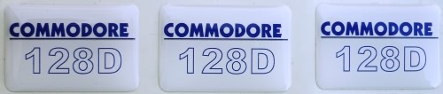 Commodore 128 D Case Badge Sticker