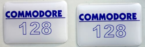 Commodore 128 Case Badge Sticker