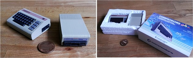 Mini Commodore C64 with 1541 disk drive (c) Dave Nunez