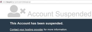 TPUG Suspended